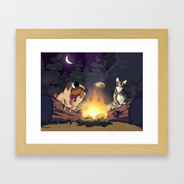 Priscilla and Clementine Go Camping Framed Art Print