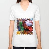 southwest V-neck T-shirts featuring Southwest by ArtbyJudi