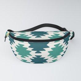 Southwestern pattern teal Fanny Pack