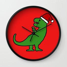 Christmas T-Rex Wall Clock