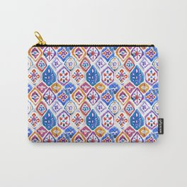 mosaic balinese ikat print mini Carry-All Pouch