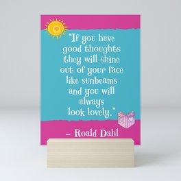 Good Thoughts - Roald Dahl Mini Art Print