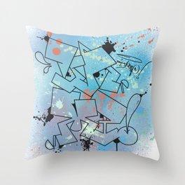 Vamp Paint Throw Pillow