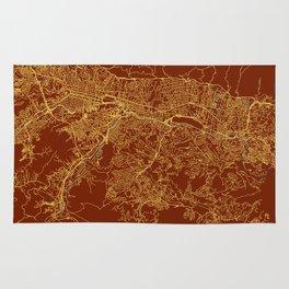 Caracas, Venezuela street map Rug