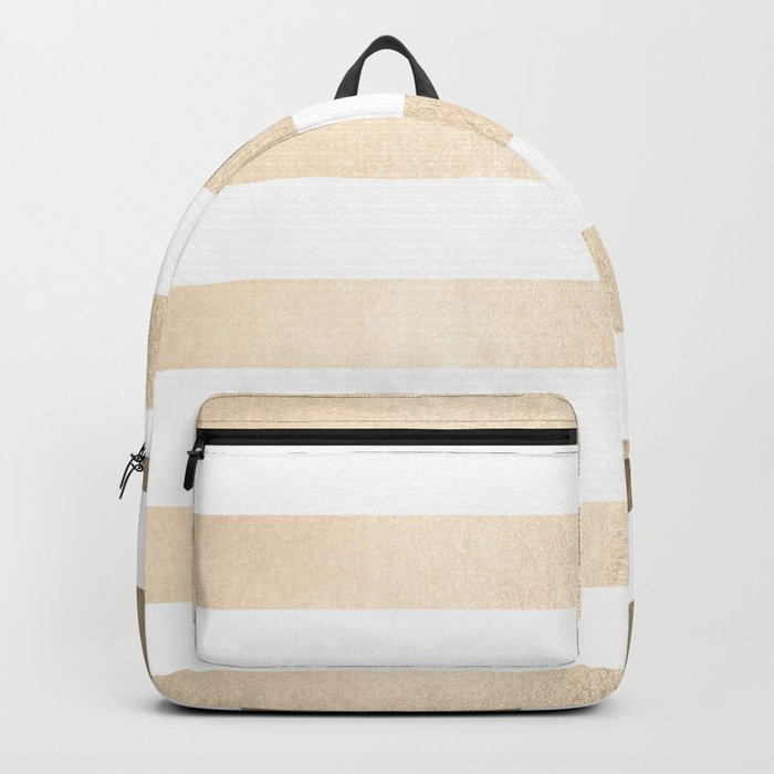 Simply Stripes in White Gold Sands Backpack