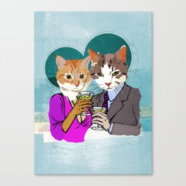 Kitty Cocktails Canvas Print