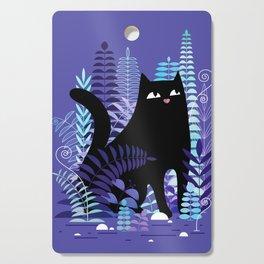 The Ferns (Black Cat Version) Cutting Board