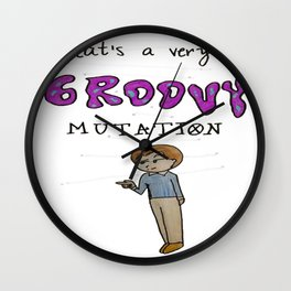 A very groovy mutation Wall Clock