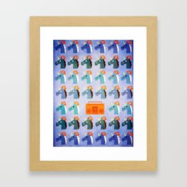 BoomBox Unicorn Framed Art Print