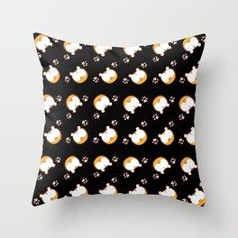 Corgi Butt Pattern Throw Pillow