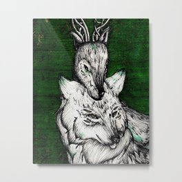 The wolf and the halla Metal Print