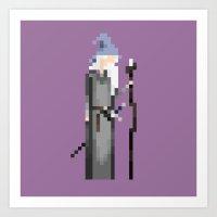 gandalf Art Prints featuring Gandalf by LOVEMI DESIGN
