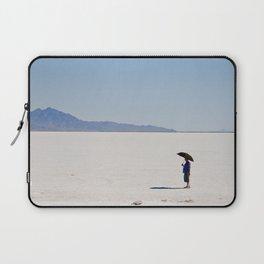 Umbrella Man on Salt Flat Laptop Sleeve