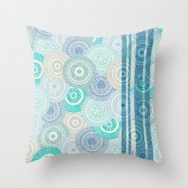 Circles / Stripes Throw Pillow