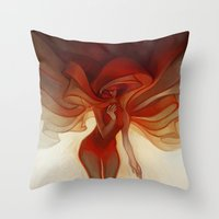 loish Throw Pillows featuring Wrapped by loish