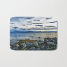 Dusk over South Bay, New Zealand Bath Mat