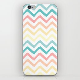 Pastel Chevron Pattern iPhone Skin