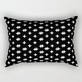 Hatch Cross Rectangular Pillow