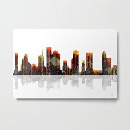 Houston Texas Skyline BW1 Metal Print