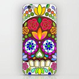 Sugar Skull Floral Naif Art Mexican Calaveras iPhone Skin