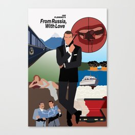 Ian Fleming's From Russia, With Love Canvas Print