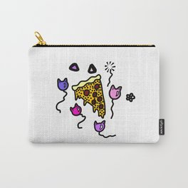 Pizza and Cat Balloons Carry-All Pouch