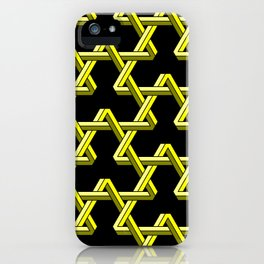 Impossible Yellow Triangles iPhone Case