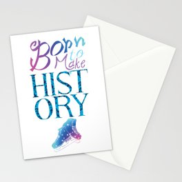 Born to Make History Stationery Cards