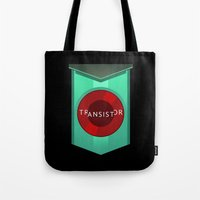 transistor Tote Bags featuring Transistor by Spiritius
