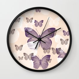 Butterfly emotions Wall Clock