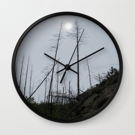 Burnt Forest Wall Clock