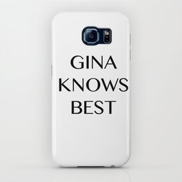 Gina Knows Best iPhone Case