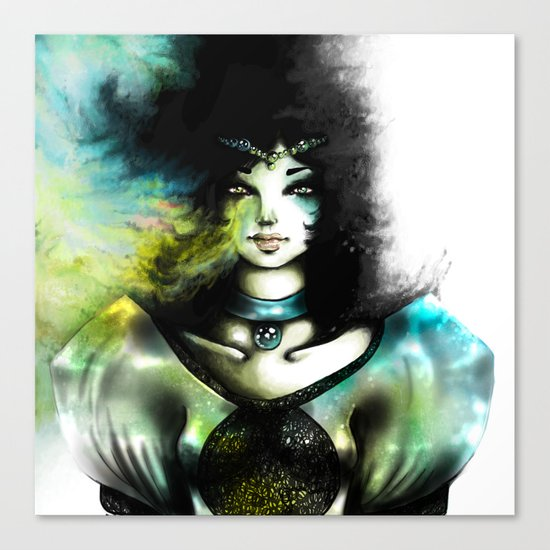 THE GREEN WOMAN Canvas Print