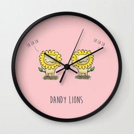 Dandy Lions Wall Clock
