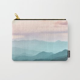 Smoky Mountain National Park Sunset Layers II - Nature Photography Carry-All Pouch