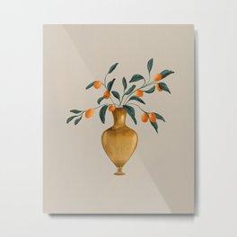 Vintage Gold vase  Metal Print