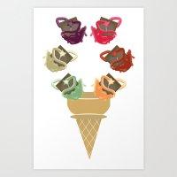 Chocolate Rippleboat Sundae  Art Print