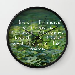 LUCK CLOVERS Wall Clock
