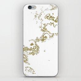 Golden Flow iPhone Skin