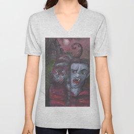 Dracula and Catt Unisex V-Neck