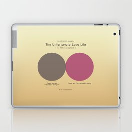 The Unfortunate Love Life (A Venn Diagram) Laptop & iPad Skin