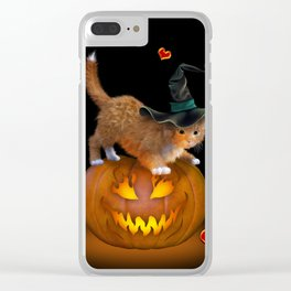 Kitty Halloween Clear iPhone Case
