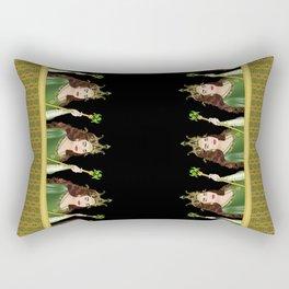 Queen of Clubs Rectangular Pillow