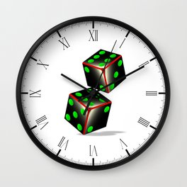 Dice Wall Clock