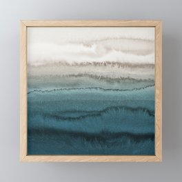 WITHIN THE TIDES - CRASHING WAVES TEAL Framed Mini Art Print