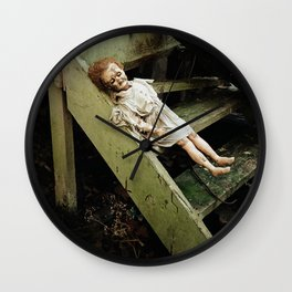 creepy doll Wall Clock