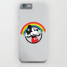 Mickey Rainbow iPhone Case
