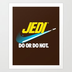 Brand Wars: Jedi - blue lightsaber Art Print