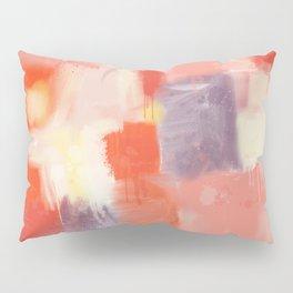City Sunset Geometric Abstract Painting Pillow Sham