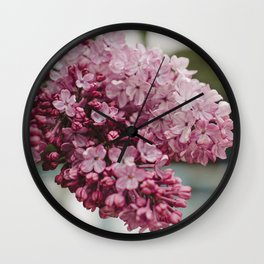 Spring Lilacs Wall Clock